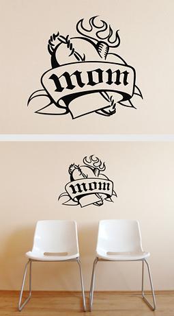 """Originální """"tetování"""" na zeď."""