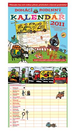 Parádní domácí rodinný kalendář na rok 2011 od Patagionie